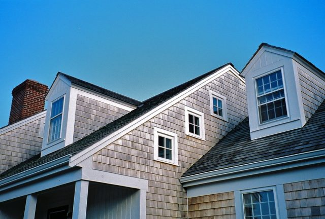 doghouse dormers, four light awning windows in Cape Cod home design and built in Orleans MA