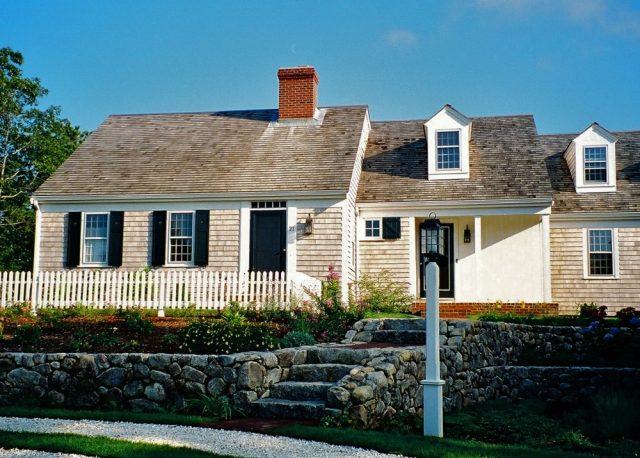 Entry courtyard, farmer's porch, doghouse dormer,