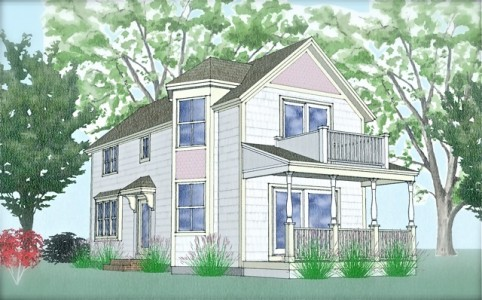 Cottage house plan, green built, Jamestown RI